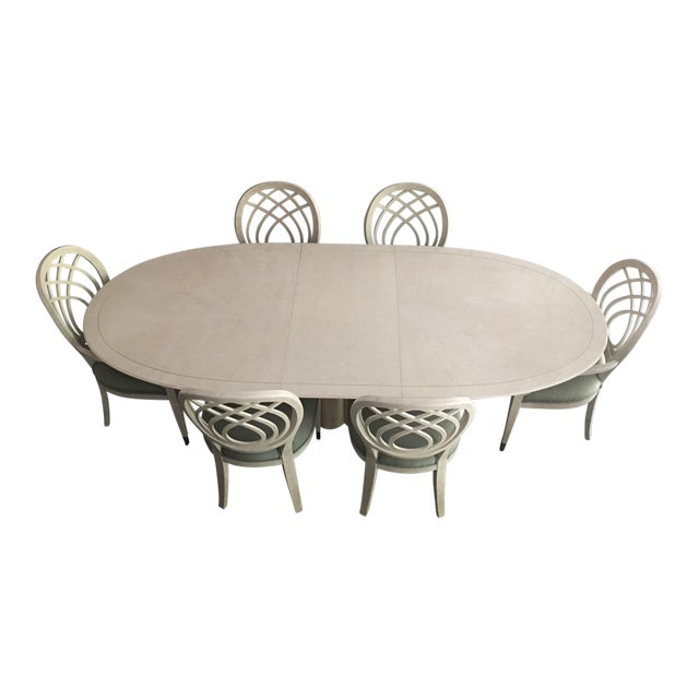 Henredon Dining Table & Chairs For Sale