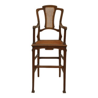 French Art Nouveau High Chair For Sale