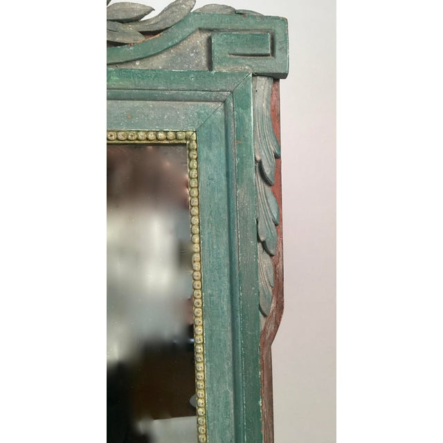 French Painted Louis XVI Style Mirror with Agricultural Motifs - Image 3 of 4