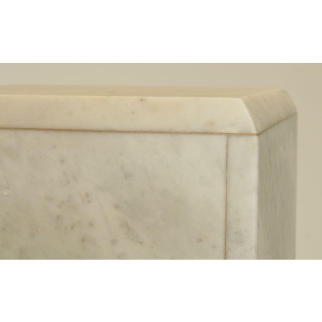 "Italian Carrara Marble 56"" Column Pedestal For Sale - Image 12 of 13"