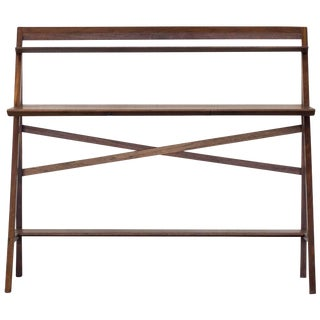 Cantilever Series Desk by Phaedo, Natural Black Walnut For Sale
