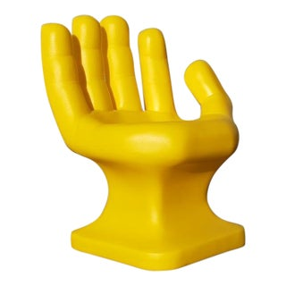 Yellow Sculptural Modernist Hand Chair For Sale