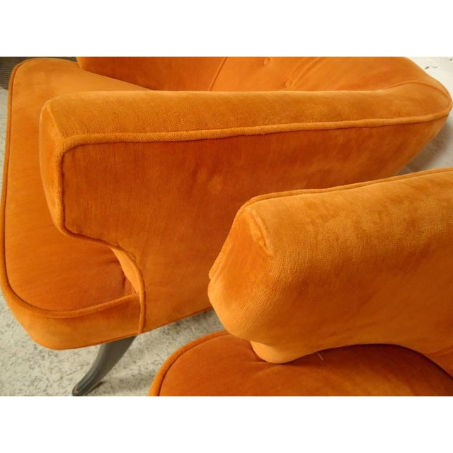 Rare Mid-Century Barrel Back Armchairs - A Pair For Sale - Image 4 of 7