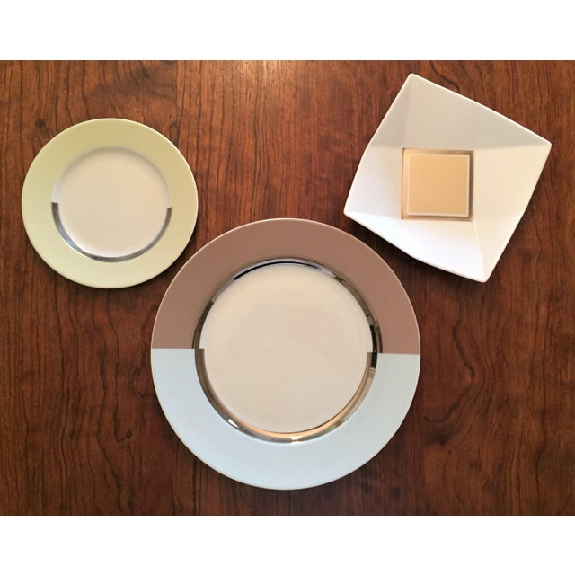 "2000 - 2009 Bernardaud Fusion ""Color"" Dinnerware Service for 12 - 10-Piece Place Settings, 129 Pieces For Sale - Image 5 of 10"