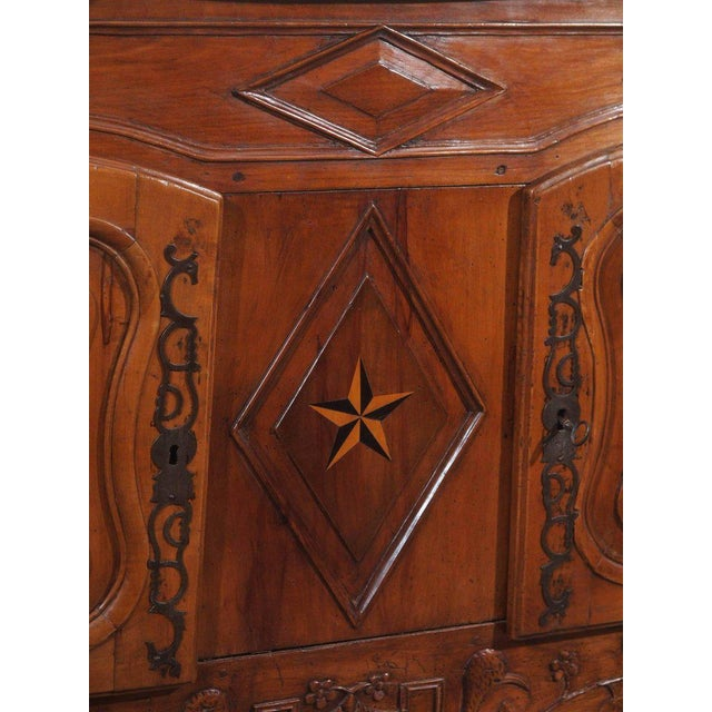 18th Century French Walnut Carved and Inlaid Sideboard, circa 1770 - Image 4 of 7