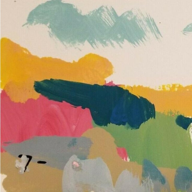 Jose Trujillo Landscape Original Modernist Acrylic on Paper Painting For Sale - Image 4 of 5