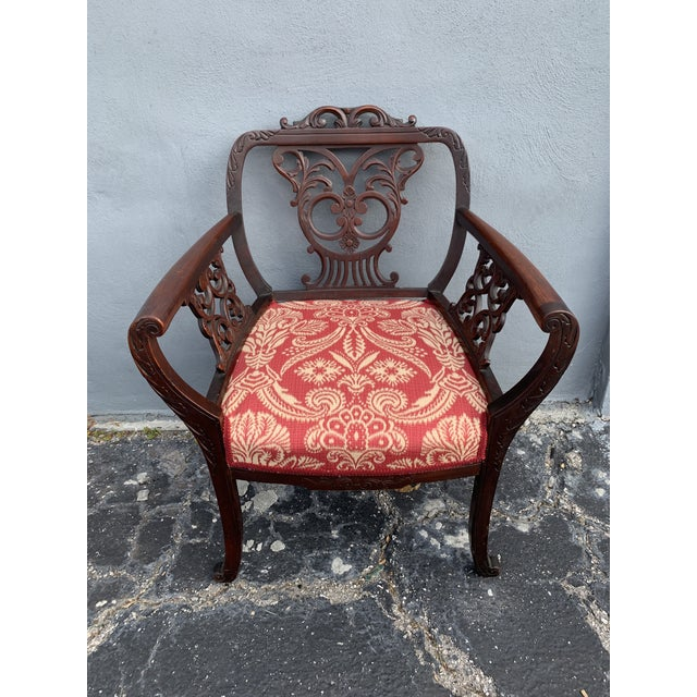 Antique Jacobean Accent Chair For Sale - Image 4 of 13
