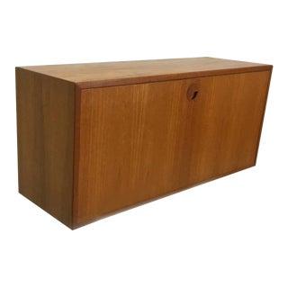 Danish Modern Teak Desk Cabinet For Sale