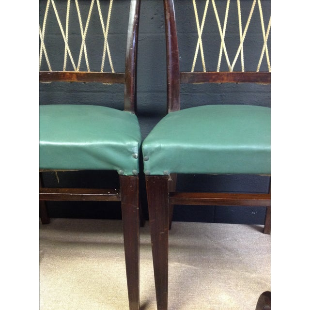 Mid-Century Italian Rope Back Dining Chairs - Set of 6 - Image 11 of 11