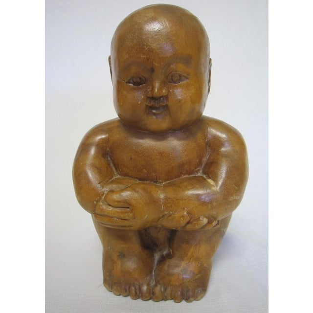 Chinese Wood Figure - Image 6 of 6