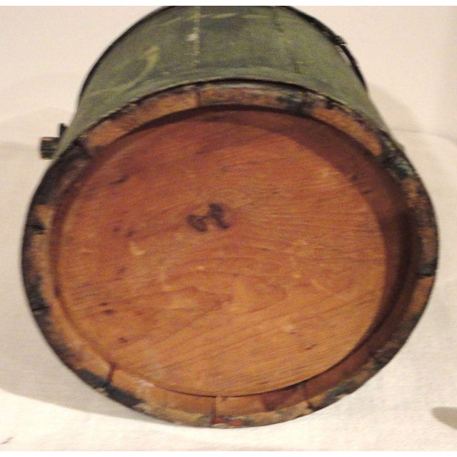 19th Century Nautical Original Painted and Decorated Water Bucket from NE - Image 8 of 8