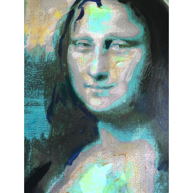 1982 Homage to Warhol Giclee Painting of the Mona Lisa by M. Eisner For Sale - Image 4 of 13
