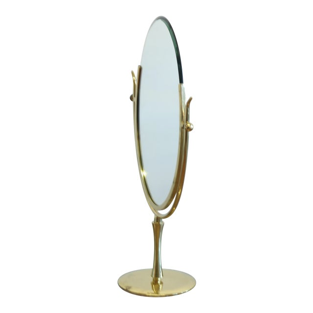 Wishbone Vanity Mirror by Charles Hollis Jones For Sale