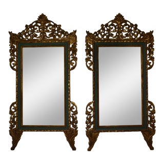 1950s Vintage Italian Mirrors - a Pair For Sale