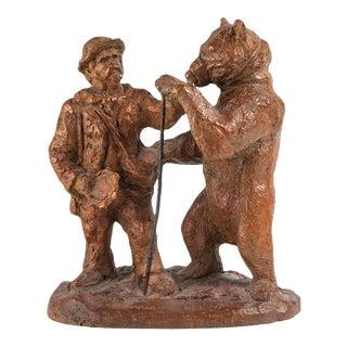 Bronze Bear Sculpture Signed R. Godefroy For Sale