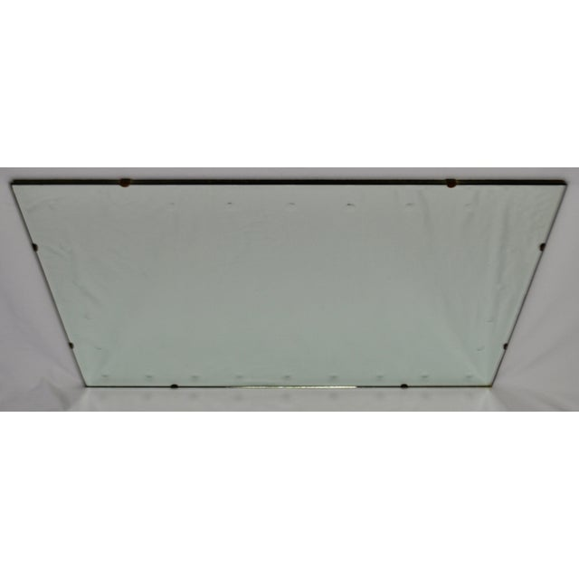 Mid 20th Century Mid Century Modern Frameless Beveled Mirror For Sale - Image 5 of 11