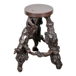 Rare French Grapevine Root Bar Stool For Sale