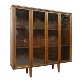 1960s Mid Century Modern Broyhill Brasilia Glass Display Bookcase Shelf