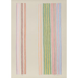 "Gene Davis, ""Royal Curtain"", Minimalist Screenprint For Sale"