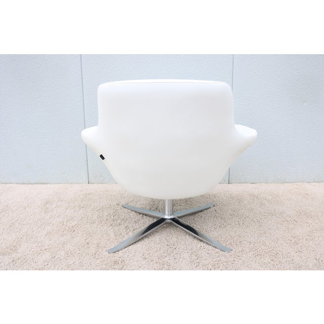 Modern Pearson Lloyd for Coalesse Bob White Leather Swivel ...