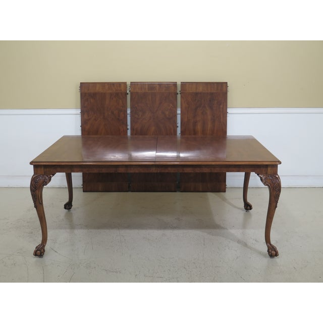 1980s Traditional Karges Ball & Claw Walnut Dining Room Table For Sale - Image 13 of 13