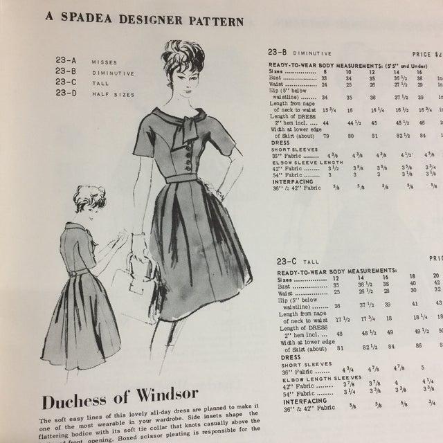 "Spadea ""Dinah Shore's Wonder Wardrobe"" Vintage Dress Pattern For Sale - Image 9 of 9"