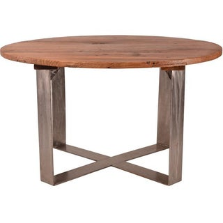 Reclaimed Elm Wood Dining Table For Sale