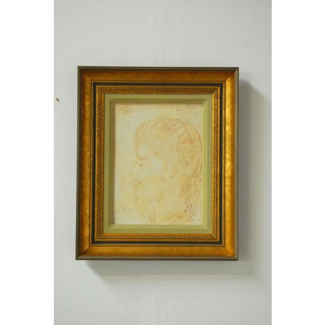 Pascal Cucaro Profile Portrait Oil on Board - Image 9 of 9