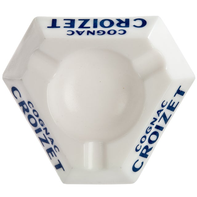 Vintage French Croizet Cognac Milk Glass Ashtray - Image 2 of 3