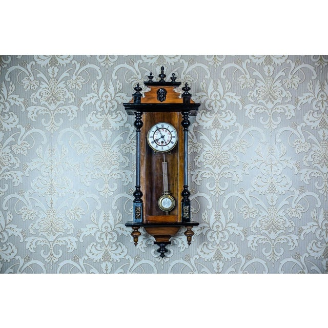 19th-Century Wall Clock With Carvings For Sale - Image 13 of 13