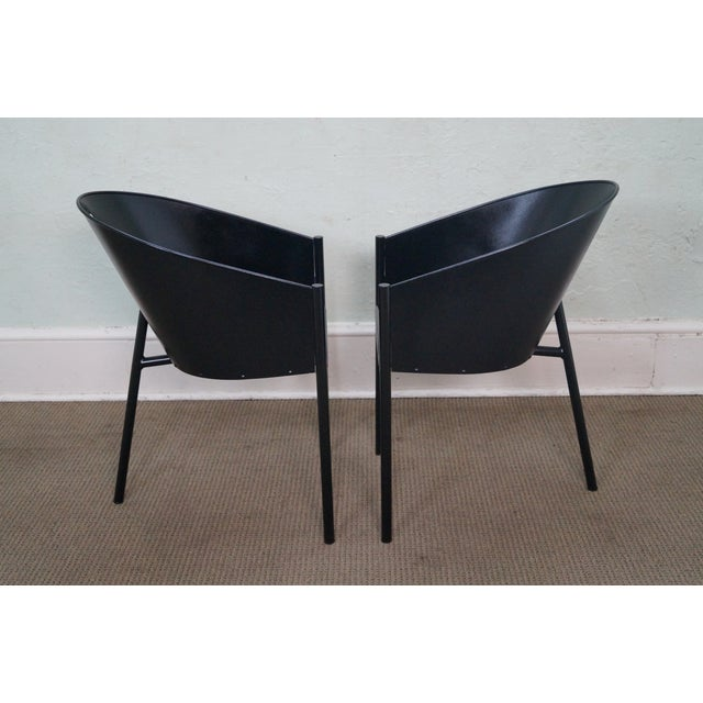 Philippe Starck Aleph Black Metal Chairs - A Pair - Image 3 of 9