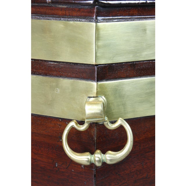 Coffee George III Mahogany and Brass Mounted Celleret For Sale - Image 8 of 11