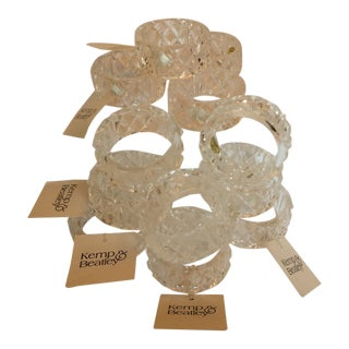 Lucite Kemp & Beatley Napkin Rings - Set of 12 For Sale