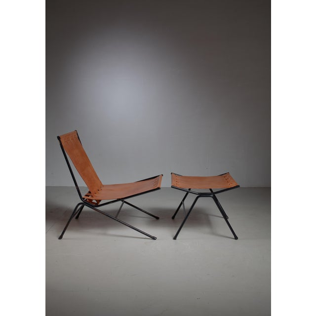 Allan Gould Allan Gould lounge chair with ottoman, USA, 1950s For Sale - Image 4 of 4