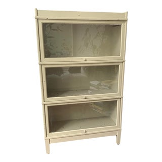 Vintage Celadon Barrister Bookshelf For Sale