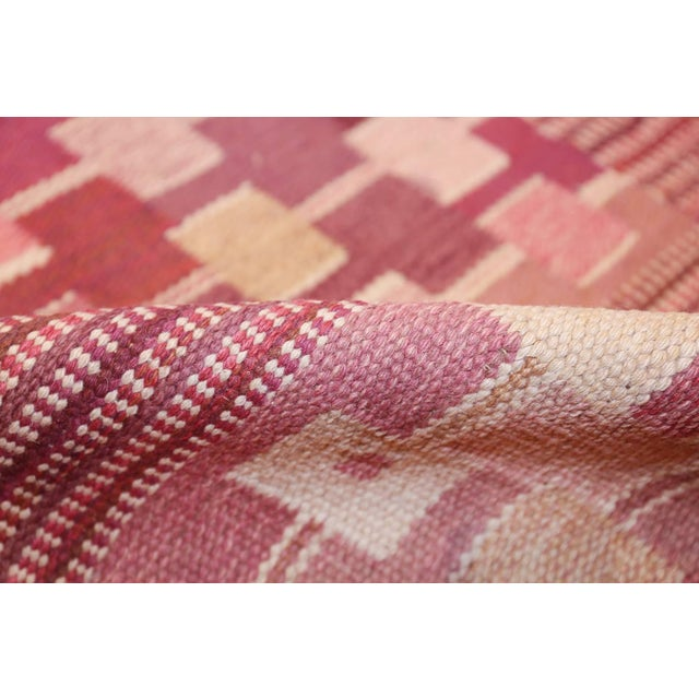 Mid 20th Century Vintage Scandinavian Marta Maas Rug by Marianne Richter - 5′10″ × 8′ For Sale - Image 5 of 11