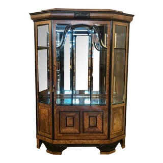 German Burr Walnut Display Cabinet by Weber Bros. Of Stuttgart For Sale