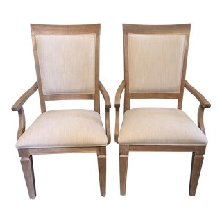 Contemporary Dining Arm Chairs- A Pair For Sale