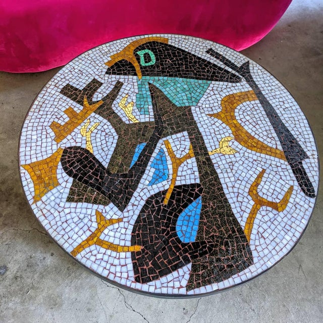 1960s Artisan Midcentury Modern Mosaic Table For Sale - Image 5 of 13