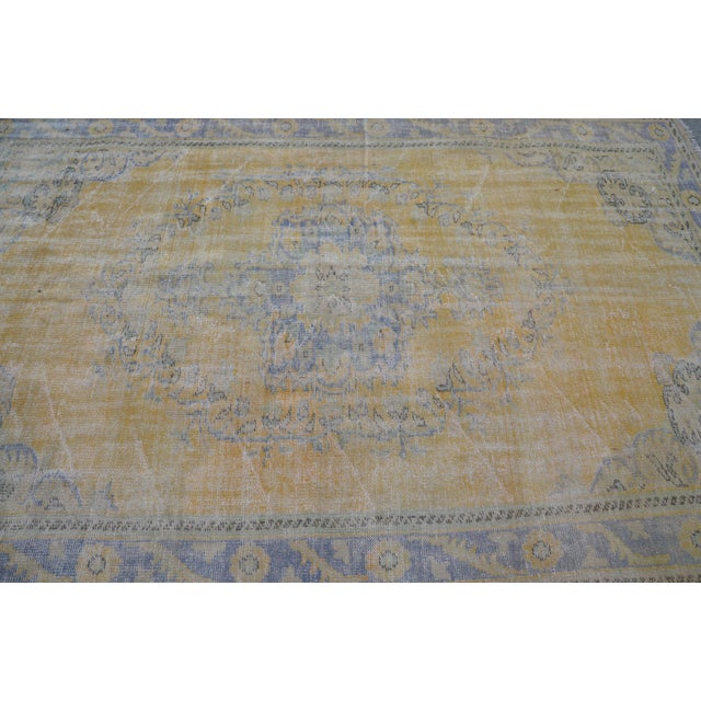 """Tribal Turkish Antique Rug - 71"""" x 109"""" For Sale - Image 5 of 7"""