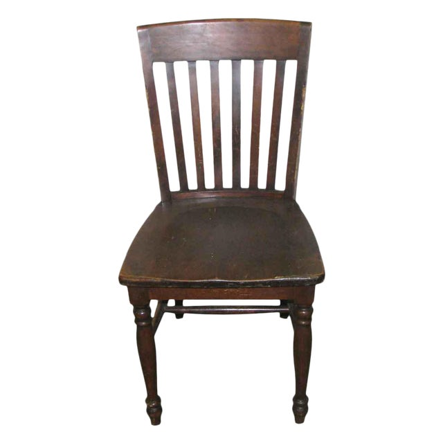 Original Antique Dark Oak Chair For Sale