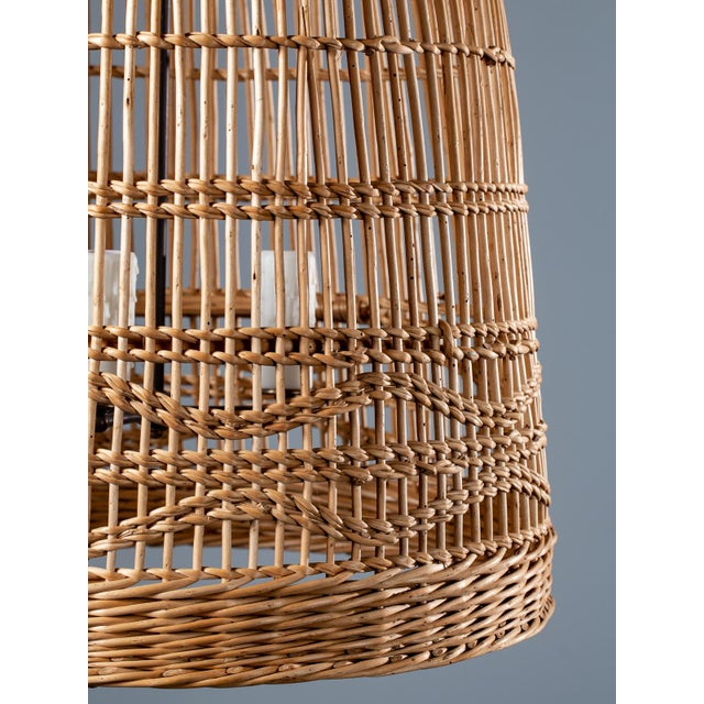 Vintage French Basket Chandelier Light Fixture Circa 1920 For Sale - Image 11 of 13