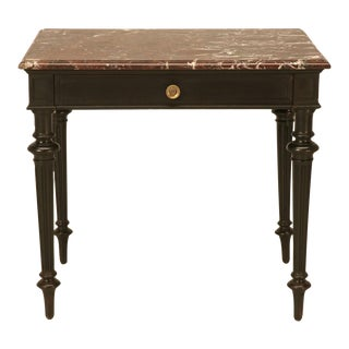 Small Napoleon III Ebonized Side or Writing Table