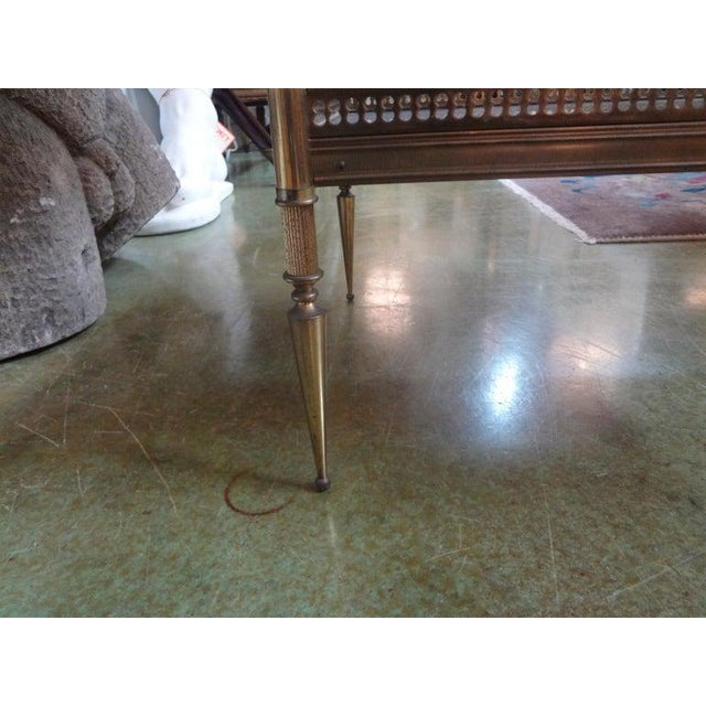 1940's French Maison Bagues Attributed Bronze Table For Sale - Image 11 of 13