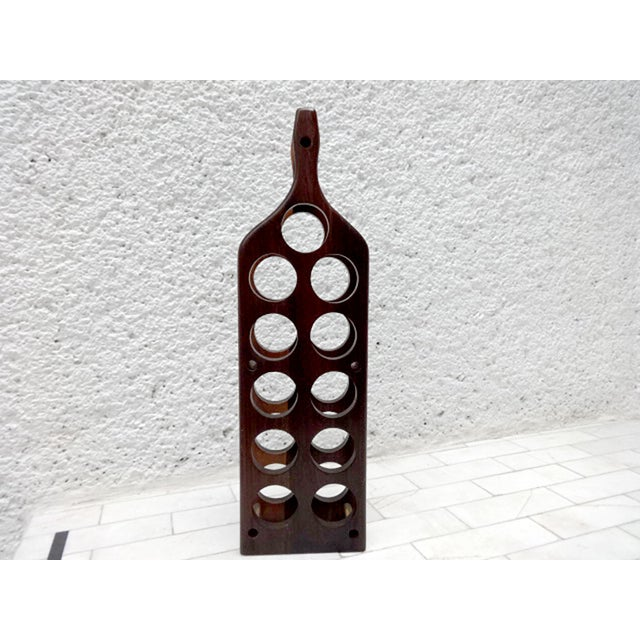Mid 19th Century Mid-Century Modern Cocobolo Wine Rack For Sale - Image 5 of 7