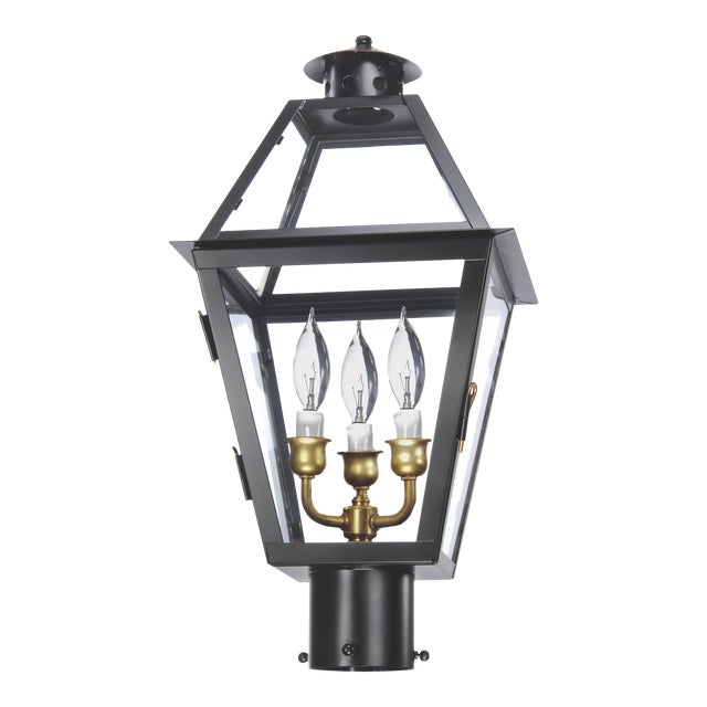 Lantern & Scroll Charleston Post Lantern For Sale