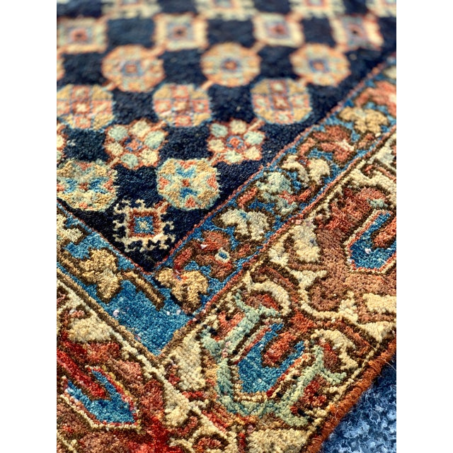 1930s Vintage Persian Mazlaghan Rug - 4′5″ × 5′10″ For Sale - Image 10 of 12