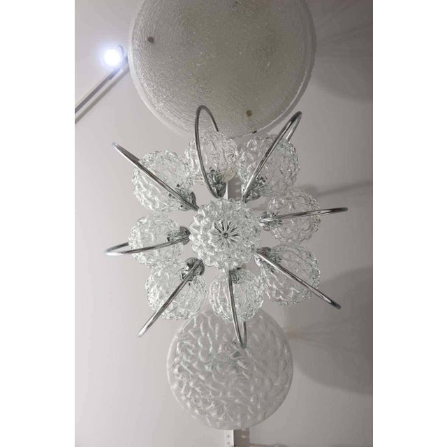 """Metal """"Atomic-Orbital"""" Chandelier in Chrome and Glass For Sale - Image 7 of 11"""