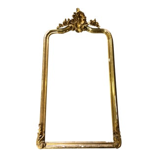 Late 19th Century Vintage Louis XV Style Gilt Wood Mirror Frame For Sale