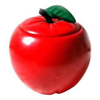1950s McCoy Red Apple Cookie Jar For Sale